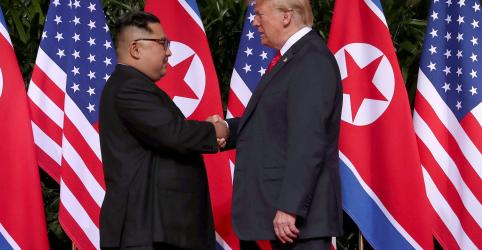 Placeholder - loading - Cúpula histórica entre Trump e Kim termina com promessa, mas pouco conteúdo