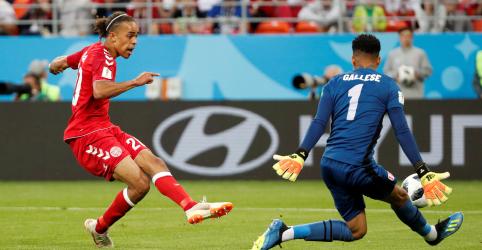 Gol de Poulsen garante vitória da Dinamarca por 1 x 0 sobre Peru