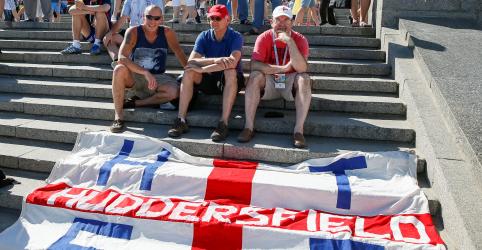 Difícil de encontrar: poucos torcedores ingleses viajam à Rússia para o Mundial