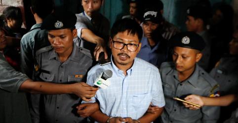 Placeholder - loading - Imagem da notícia Policial de Mianmar envolvido em caso de repórteres da Reuters violou código ao copiar depoimentos, diz defesa