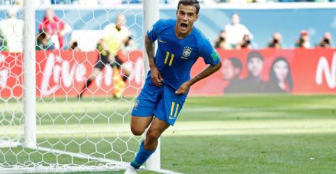 Brasil vence Costa Rica por 2 x 0 com gols de Coutinho e Neymar nos acréscimos