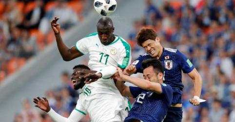 Placeholder - loading - Imagem da notícia Senegal e Japão empatam por 2 x 2 e se mantêm na liderança do Grupo H
