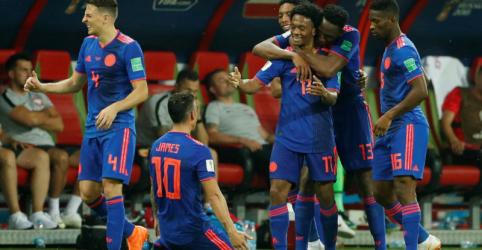 Colômbia vence por 3 x 0 e elimina a Polônia do Mundial