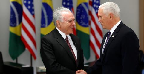 Temer diz que acertou com vice dos EUA que países sigam buscando eliminar barreiras no comércio