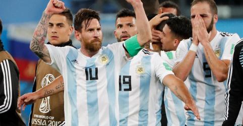 Placeholder - loading - Argentina garante vaga na fase eliminatória com gol no fim e enfrentará a França