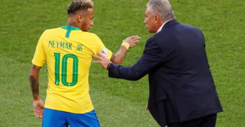 Placeholder - loading - Tite não deixa Neymar responder a Osorio e elogia melhora de comportamento do atacante
