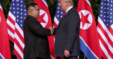 Trump diz que conversas com Coreia do Norte sobre programa nuclear estão 'indo bem'