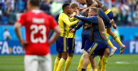 Suécia vence jogo duro com Suíça por 1 x 0 e se classifica para quartas de final