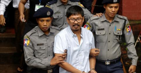 Placeholder - loading - Imagem da notícia Tribunal de Mianmar acusa repórteresda Reuters de violação de segredos de Estado