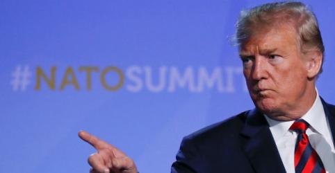 Trump diz estar comprometido com Otan após aliados aumentarem gastos com defesa