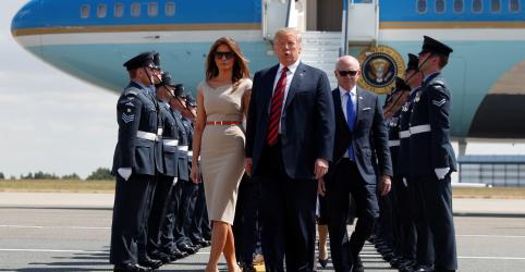 Placeholder - loading - Trump desembarca no Reino Unido após questionar plano de May para o Brexit