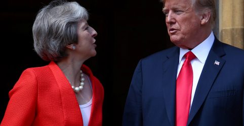 Premiê May tem bom relacionamento com Trump e está confiante em acordo comercial, diz porta-voz