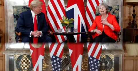 Trump diz que relacionamento com Reino Unido é 'muito, muito forte'