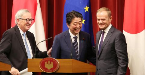 Japão e UE assinam pacto de livre comércio em meio a preocupações com Trump