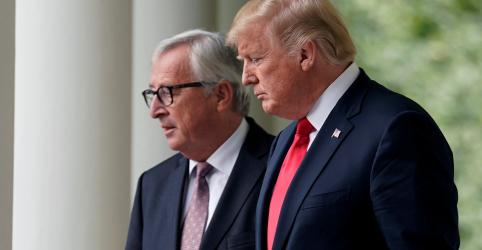 Placeholder - loading - Trump diz que EUA e UE concordaram em trabalhar para reduzir barreiras comerciais