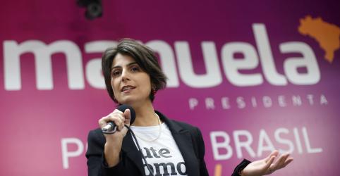 Placeholder - loading - Imagem da notícia PCdoB formaliza Manuela D'Ávila para o Planalto, mas candidatura não será obstáculo à unidade da esquerda