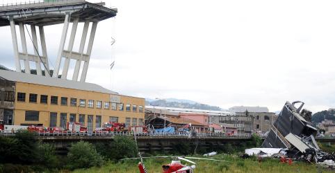 Número de mortos por desmoronamento de ponte na Itália sobe para cerca de 30, diz vice-premiê