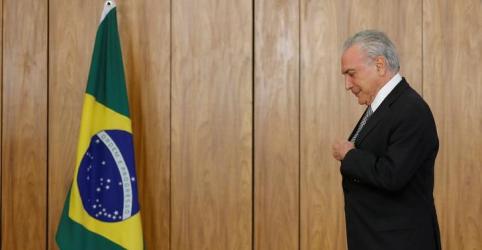 Temer diz à Folha que Alckmin parece ser candidato do governo