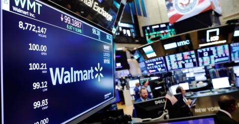 Walmart tem maior alta em vendas comparáveis nos EUA em uma década e ações disparam