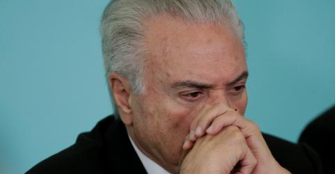 Placeholder - loading - Imagem da notícia PF pode usar provas do inquérito dos portos em caso de Odebrecht e PMDB, que envolvem Temer, decide Barroso