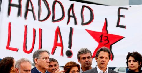 Placeholder - loading - Lula diz que tribunais impediram pleito livre e PT lança Haddad para 'ganhar a eleição'