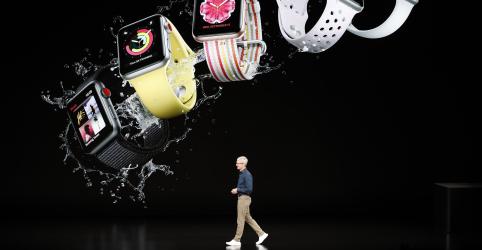 Apple lança iPhones maiores e relógios voltados para saúde