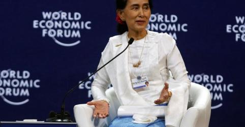Líder de Mianmar Suu Kyi defende condenação de repórteres da Reuters