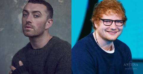 Sam Smith e Ed Sheeran no Brit Awards 2018