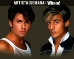 "O Artista da Semana é a banda ""Wham!"" Background"