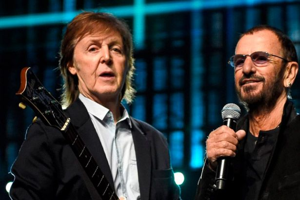 Paul McCartney e Ringo Starr gravam juntos novamente Background