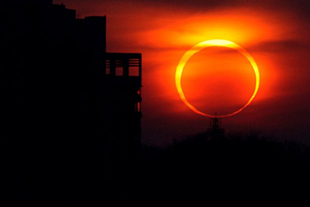 Primeiro eclipse do Sol acontece durante o Carnaval Background
