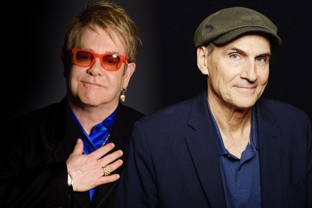 Elton John e James Taylor farão turnê no Brasil Background