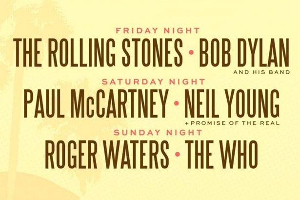 Desert Trip Festival contará com Rolling Stones, Roger Waters, McCartney, entre outros Background