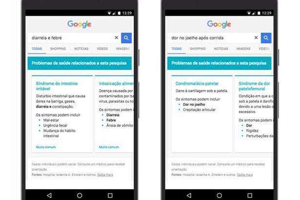 Google muda busca no celular para facilitar informações sobre doenças Background