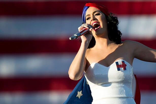 Katy Perry ganha homenagem de Hillary Clinton Background