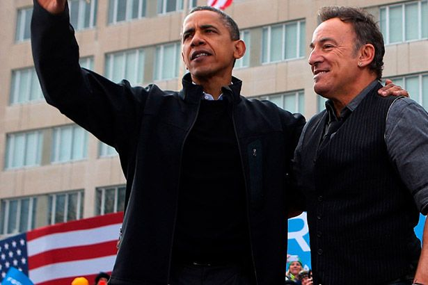 Bruce Springsteen faz show secreto para Obama Background