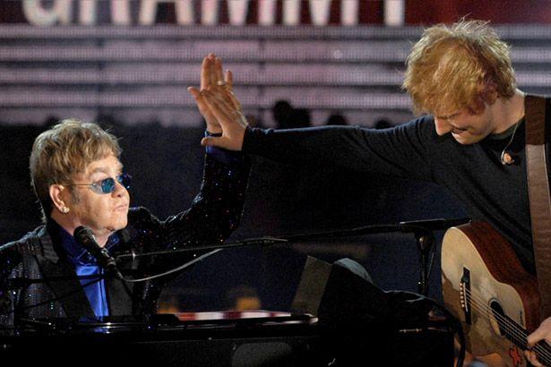 Confira conselhos de Elton John à Ed Sheeran Background