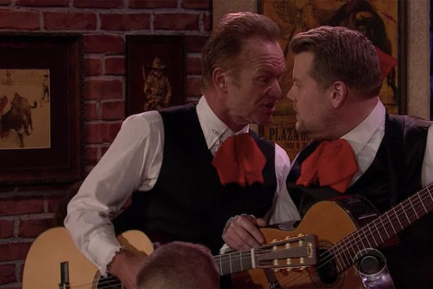 Sting participa de quadro humorístico com James Corden Background