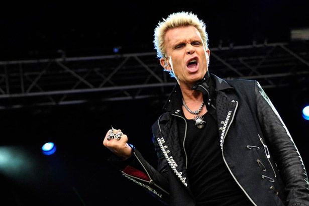 Billy Idol cancela vinda ao Brasil Background