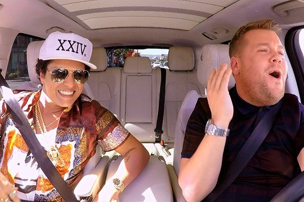 Bruno Mars participa de quadro Carpool Karaoke Background