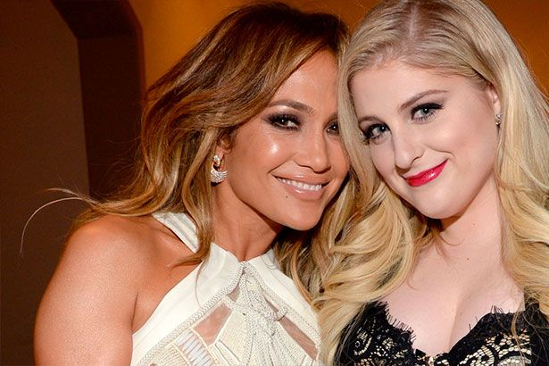 Meghan Trainor registra faixa com Jennifer Lopez Background