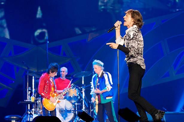 The Rolling Stones faz apresentação em São Paulo Background