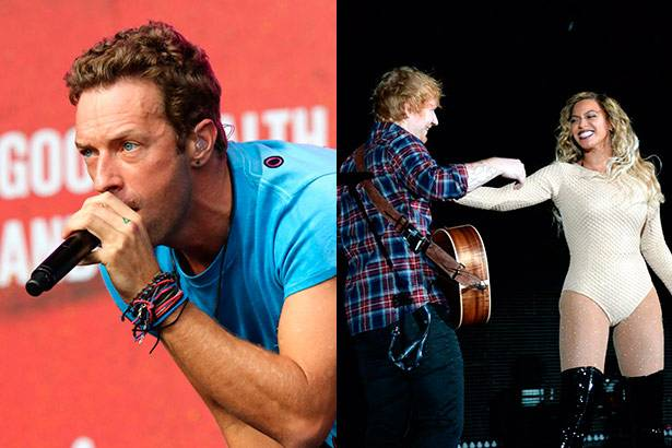 Coldplay apresenta canção inédita e Beyoncé canta com Ed Sheeran Background