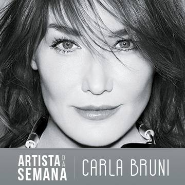 Carla Bruni é o Artista da Semana aqui na Antena 1! Background