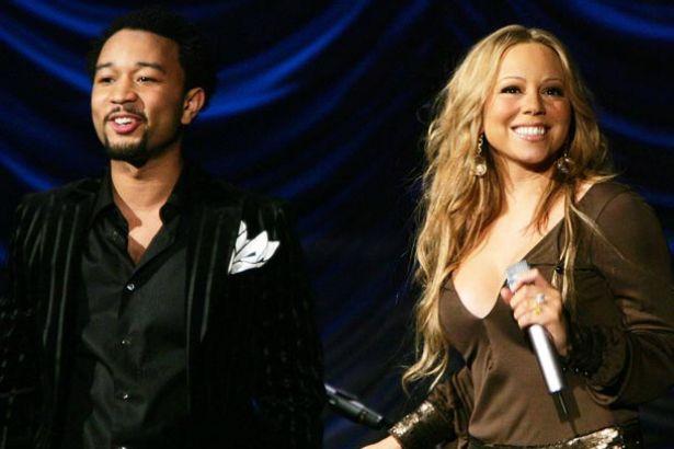 John Legend faz participação em show da Mariah Carey; confira Background