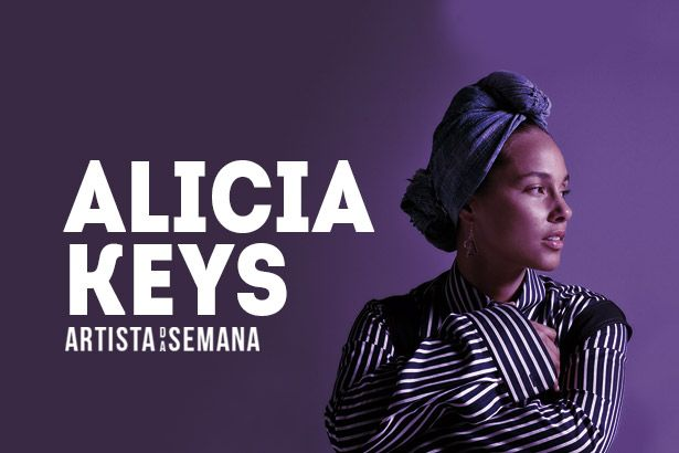 Alicia Keys é a Artista da Semana Background