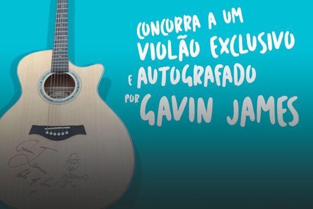 Ganhe violão autografado por Gavin James; saiba mais Background