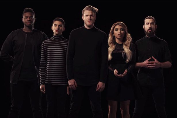 Pentatonix lança clipe para cover de Imagine, de John Lennon Background