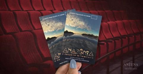 Banner da promoção Concorra a pares de ingressos para o filme 'Amazônia - O Despertar da Florestania'