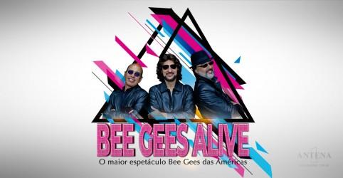 Banner da promoção BEE GEES ALIVE